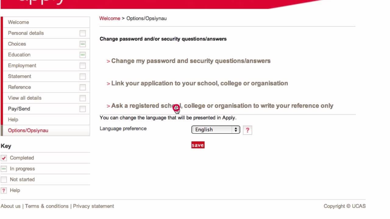 UCAS University Application References