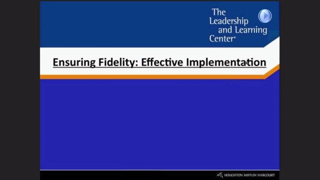 Ensuring Fidelity: Effective Implementation - Preview