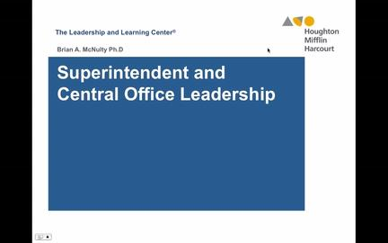 Superintendent and Central Office Leadership - Preview
