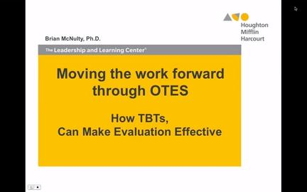 Moving the Work Forward through OTES - Preview