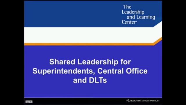 Shared Leadership for Superintendents - Preview