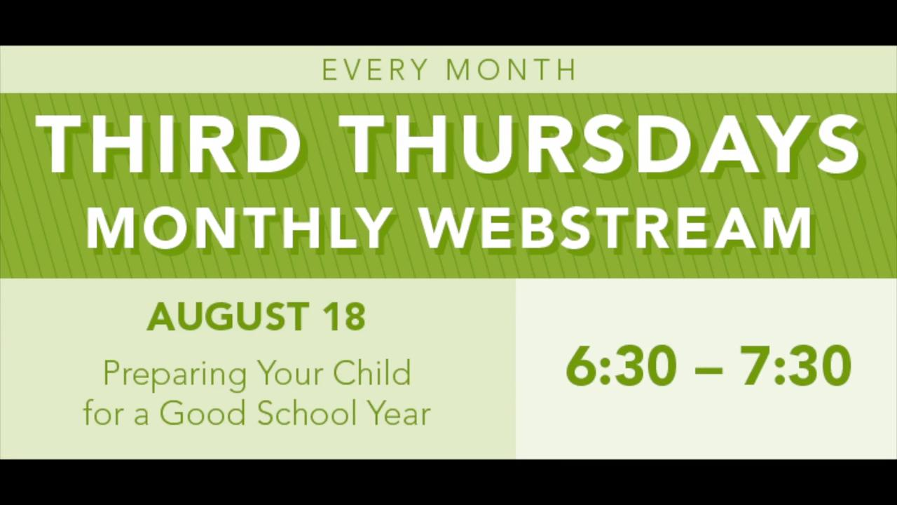 OCALI | Third Thursday - Preparing Your Child for a Good School Year