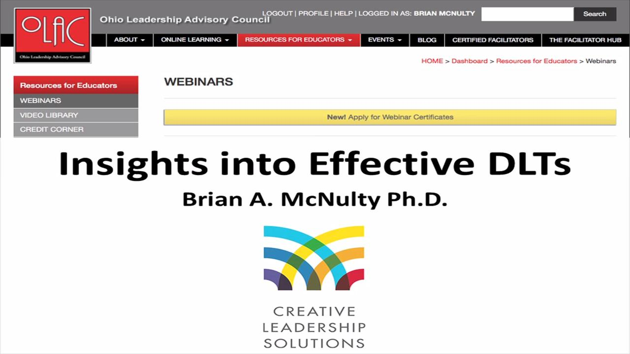 Insights into Effective DLTs - Preview