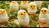 Easter Chick Devilled Eggs