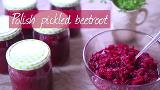 Polish pickled beetroot