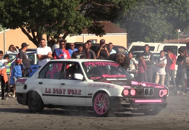 WATCH: Where there's smoke, there's crazy car spinning