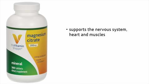 Magnesium Citrate 200 Mg 300 Tablets At The Vitamin Shoppe