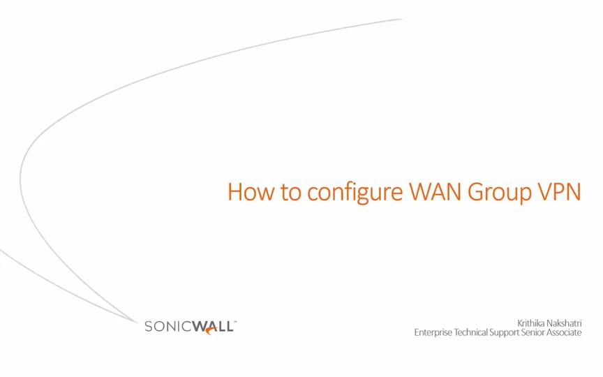 How to Configure WAN GroupVPN for connecting with Global VPN
