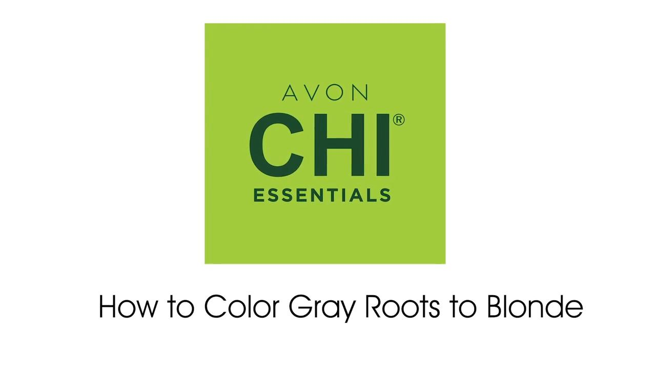 How to Color Gray Roots to Blonde using Avon CHI Essentials Hair Color