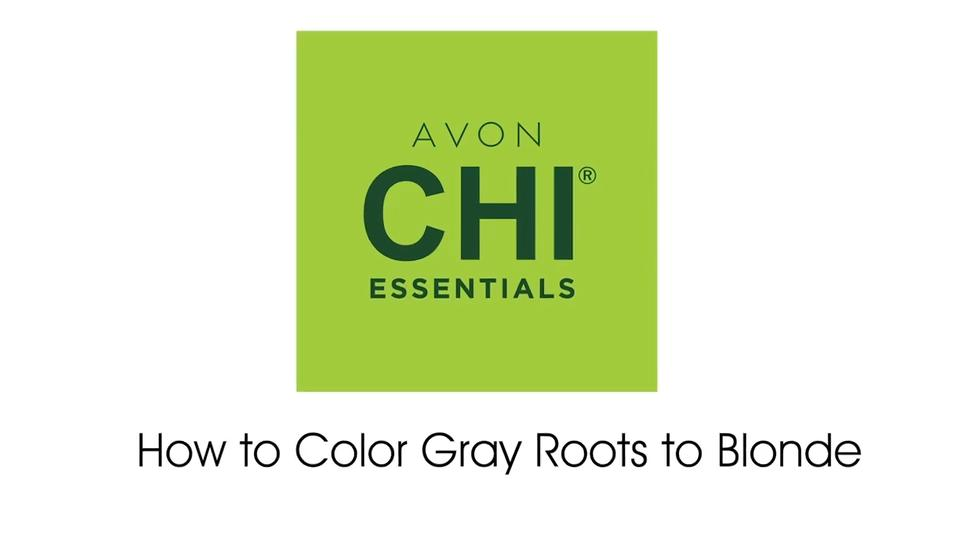 Avon CHI Essentials How to Color Gray Roots to Blonde