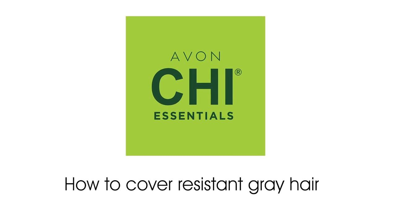 Avon Chi Essentials How to cover resistant gray hair (50-4W Dark French Roast)