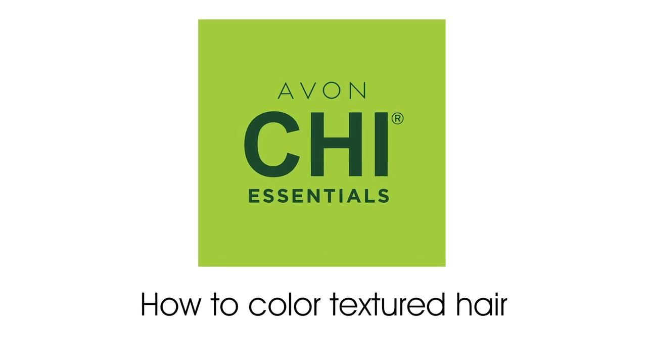 Avon Chi Essentials How to color textured hair (50-5R Light Red Auburn)