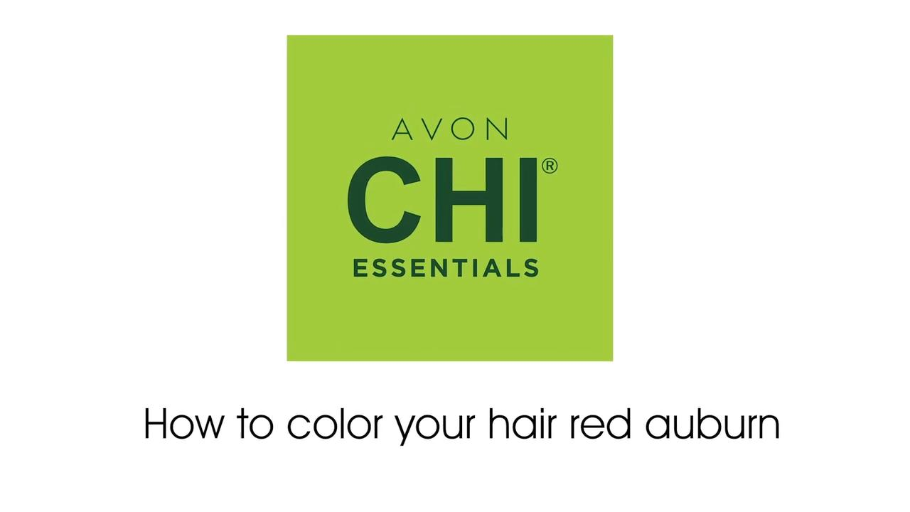 Avon Chi Essentials How to color your hair red auburn (50-7R Light Red Auburn)