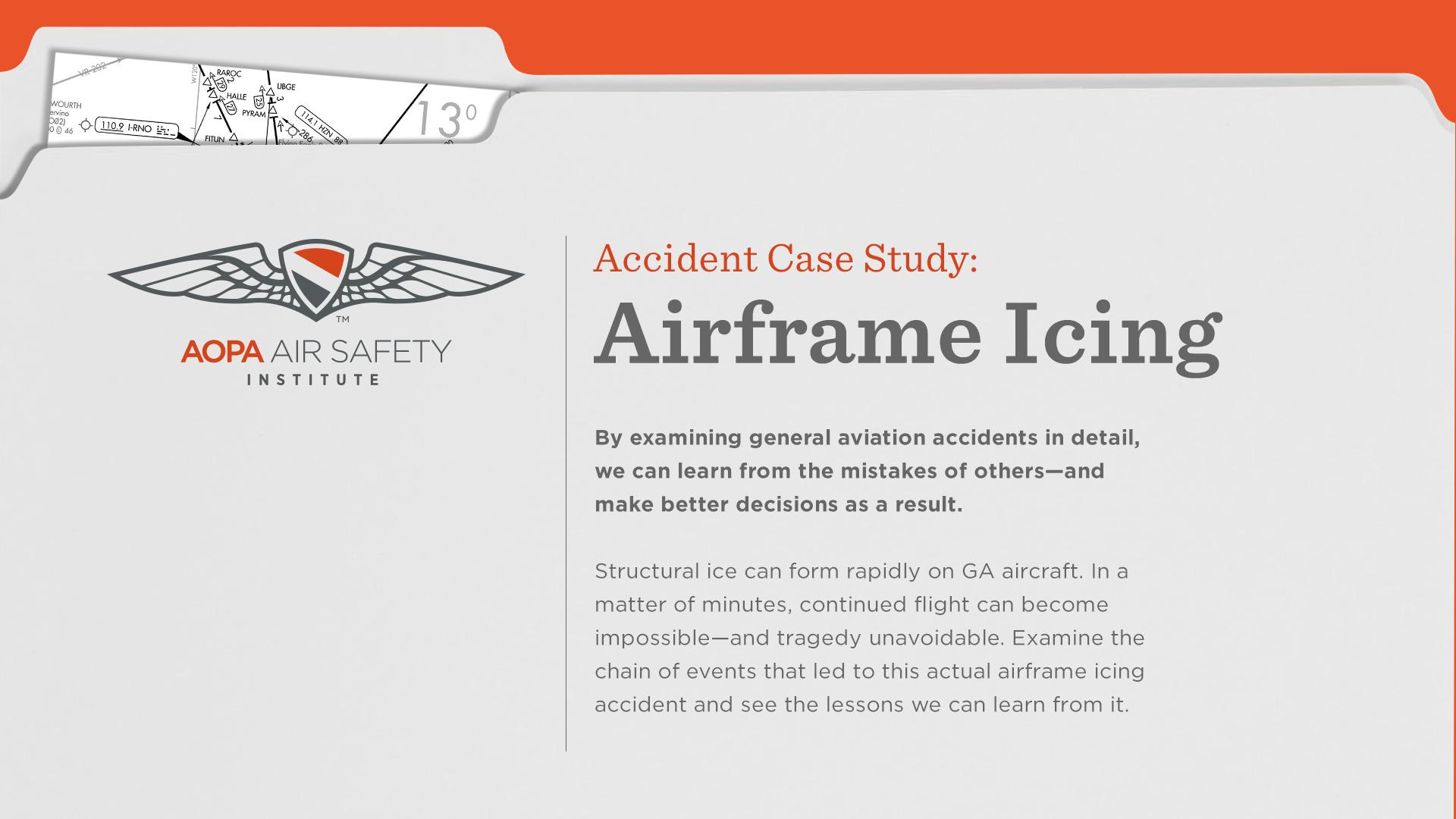 Accident Case Study: Airframe Icing