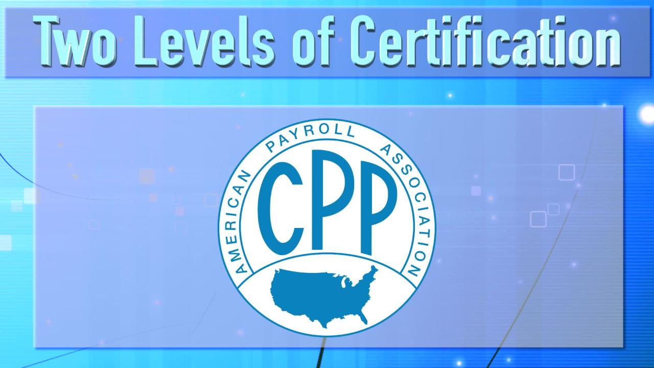 Payroll Certification