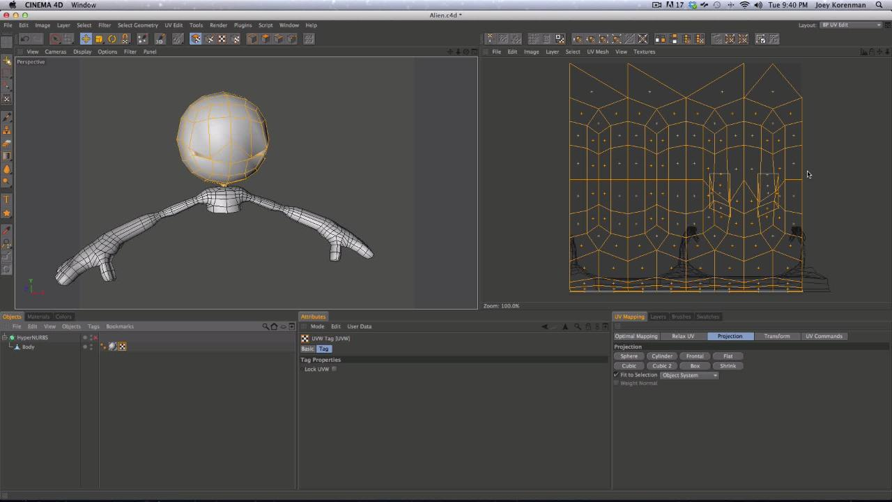 Tutorial: UV Mapping in Cinema 4D