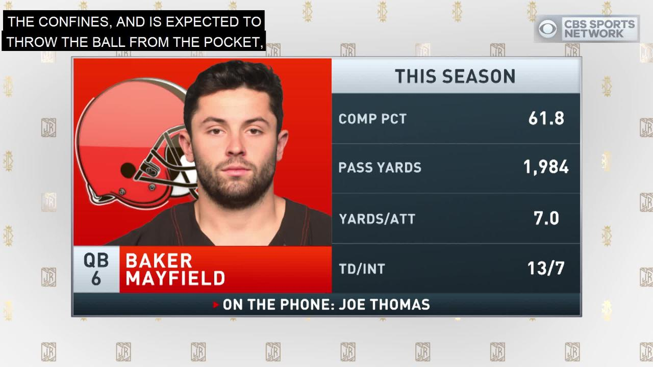 aa5d30391 Joe Thomas on Baker Mayfield and Johnny Manziel