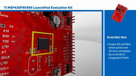 MSP430FR5969 LaunchPad Evaluation Kit - TI | Mouser India