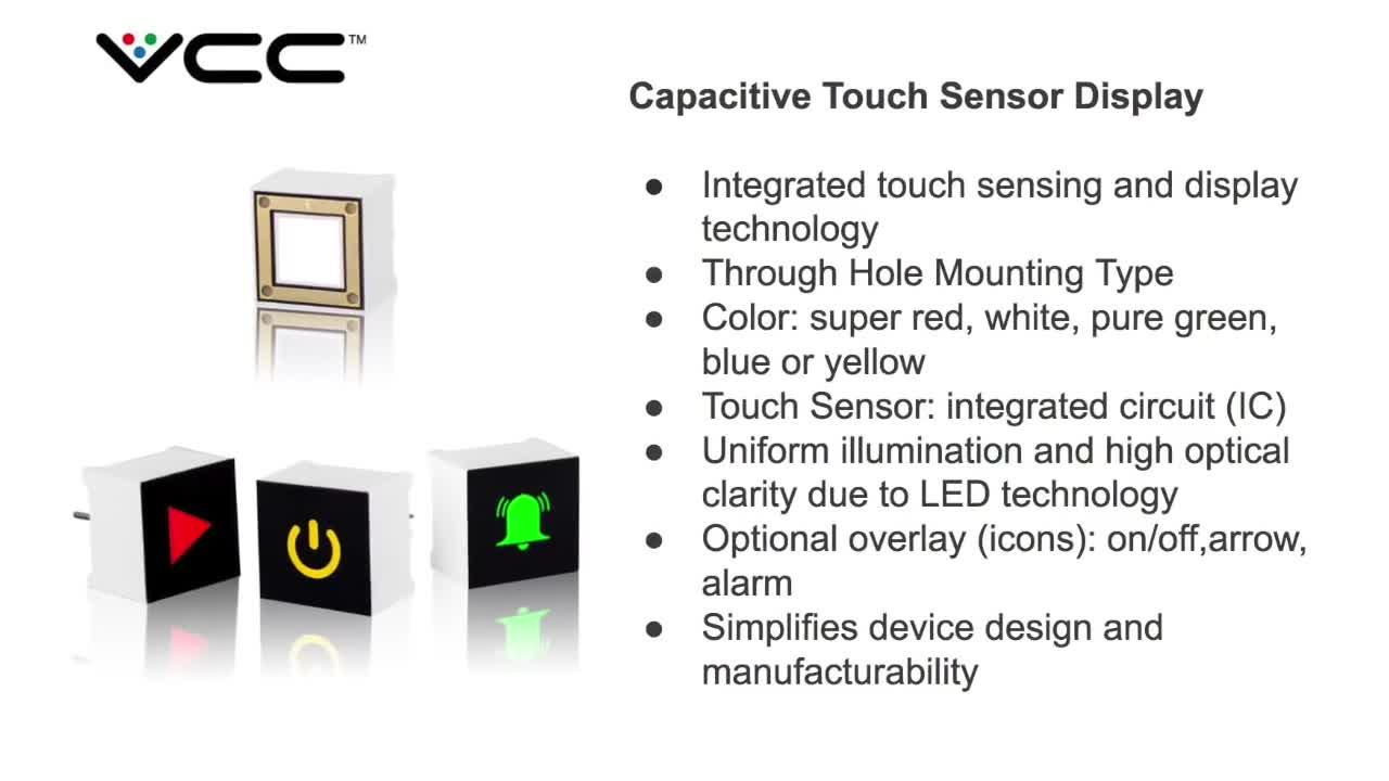 Cth Series Capacitive Touch Sensor Display Vcc Mouser On Off Switch Circuit