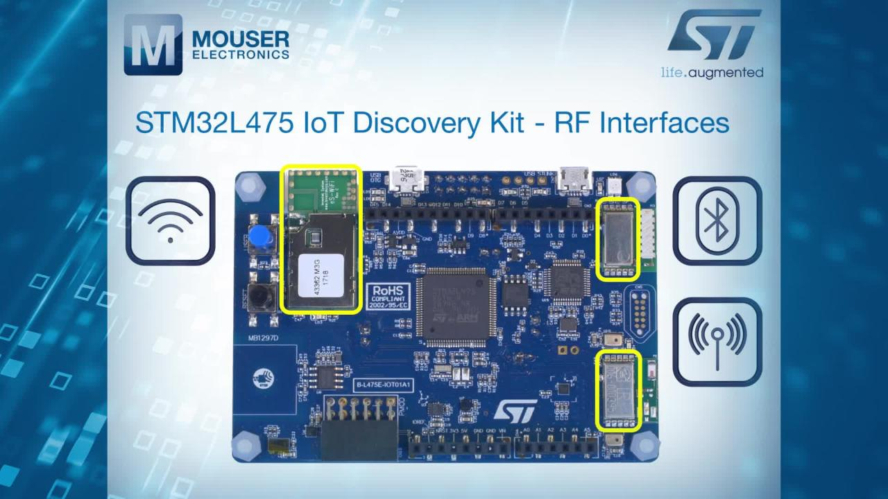 B-L475E-IOT01A Discovery Kit for IoT Node - STMicro   Mouser