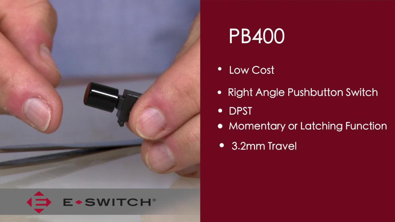 Pb400 Right Angle Pushbutton Switches E Switch Mouser Pushbuttons Momentary And Latching On Off In Blue White