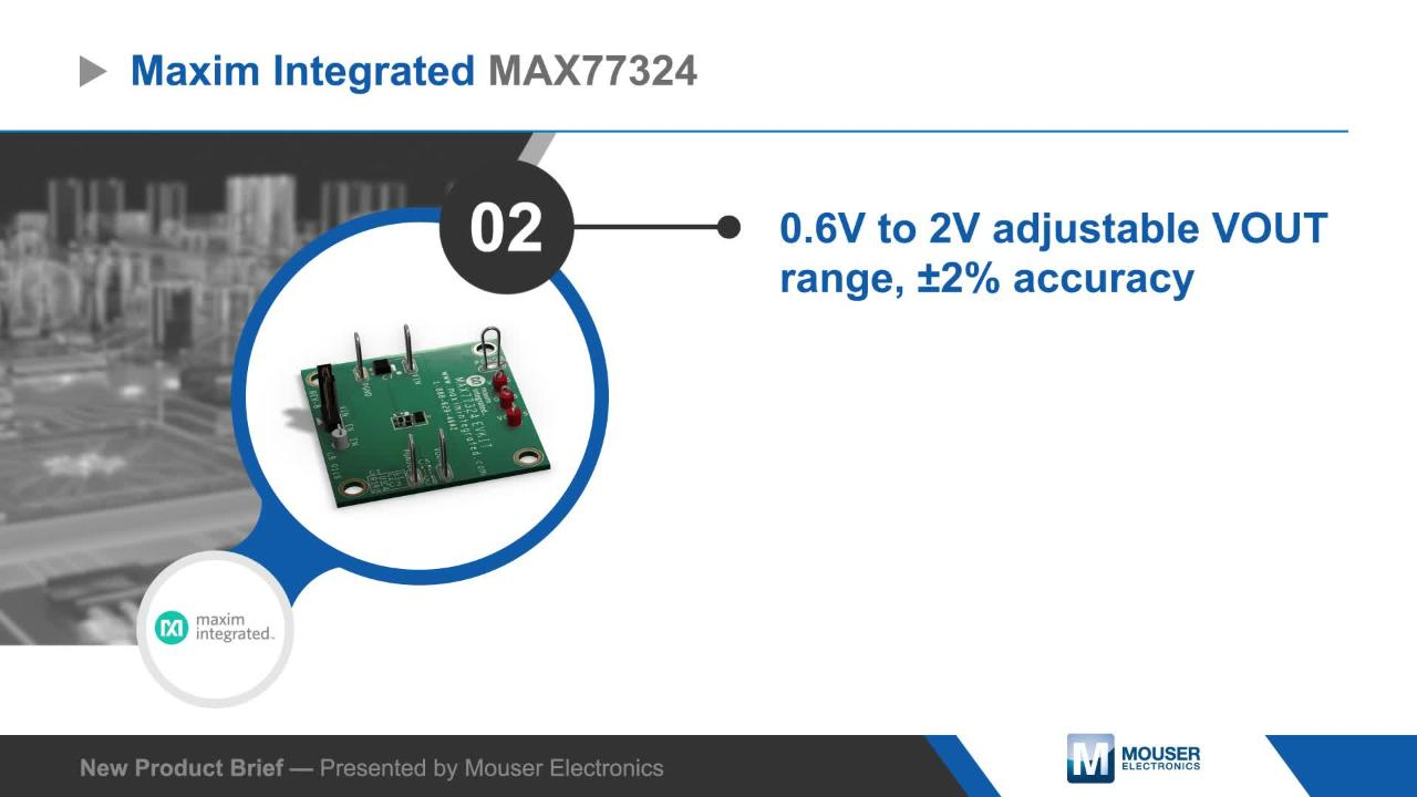 Max77324 Evaluation Kit Maxim Mouser United Kingdom Of Integrated Max17505 Synchronous Stepdown Dc Converter