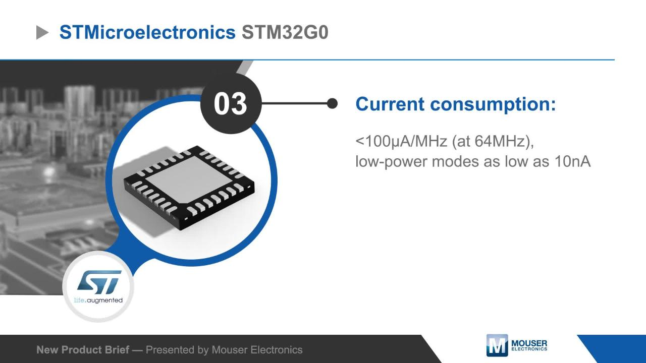 STM32G0 32-Bit Microcontrollers (MCUs) - STMicro | Mouser
