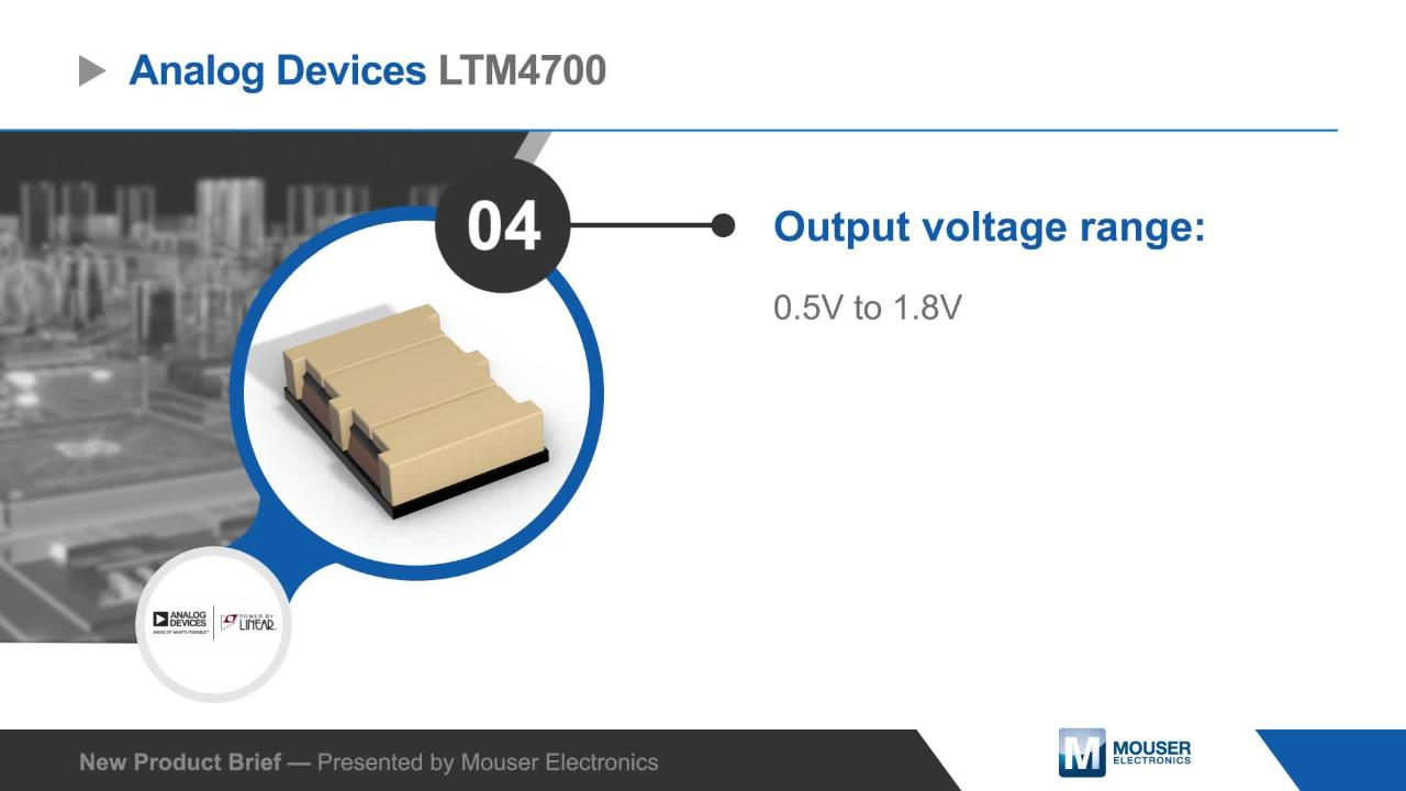 LTM4700 µModule® Regulators - Linear Technology / Analog
