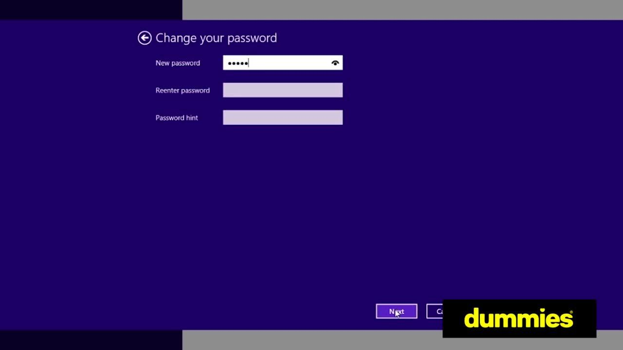 how to reset password on windows 8.1 laptop