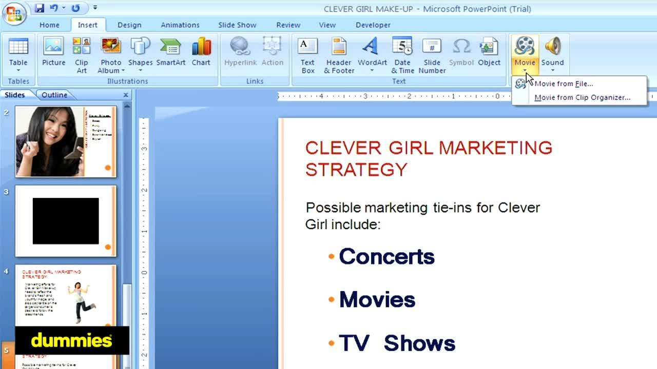 How To Add Video To A Powerpoint Presentation Dummies