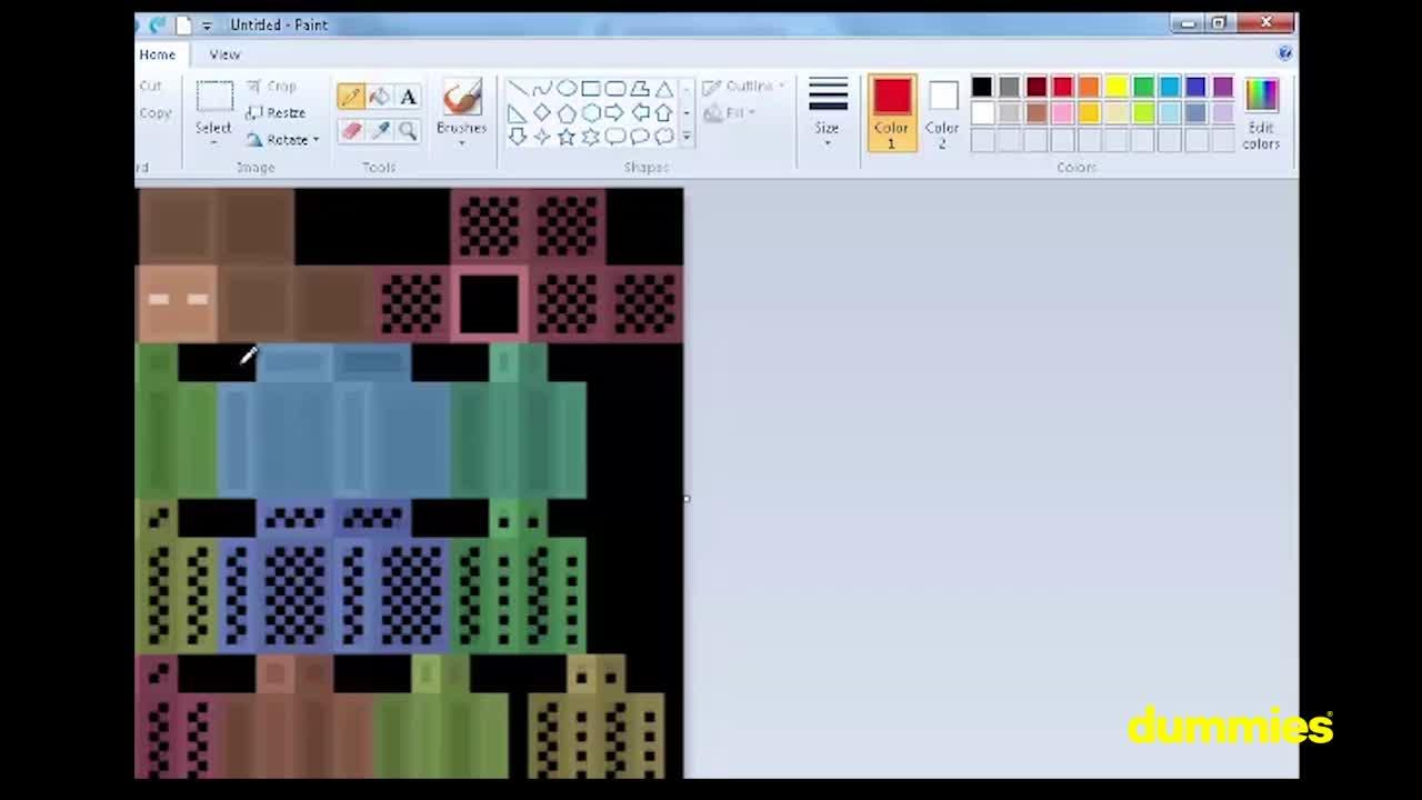 Creating A Customized Skin In Minecraft Dummies