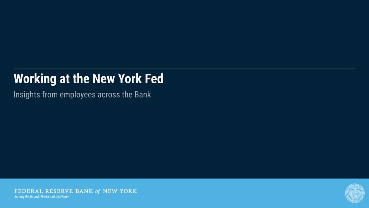 Careers - FEDERAL RESERVE BANK of NEW YORK