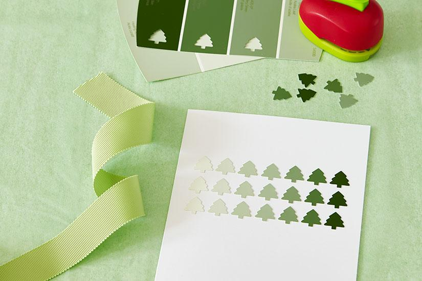 DIY Ombre Tree Holiday Cards