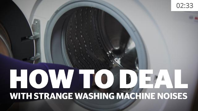 How To Deal With Strange Sounds From Your Washing Machine
