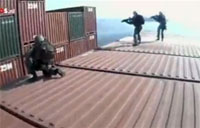 Dutch Marines Storm German Cargo Ship