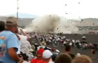 Close View of Reno Air Race Crash