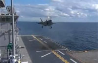 F-35B 1st Landing on USS WASP