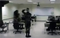 Soldier Turns Head 180 Degrees