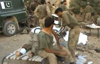 Pakistani Army Wounded by Taliban