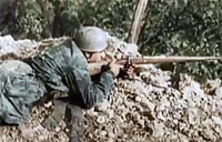 WWII Color Combat Footage