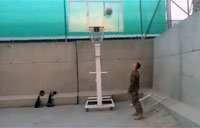 Army Basketball Trick Shots in Afghanistan