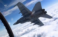 F-18 Hornets 15ft from Each Other