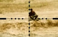 IED Planter Torn Apart by US Sniper Fire