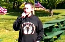 Wounded Soldier Sings National Anthem