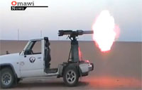 Improvised Syrian Rebel Gun Truck!