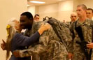 Lady Hugs Every US Soldier Deploying