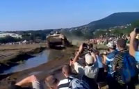 Crowd Gets Surprised During Tank Show