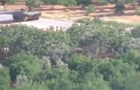 Syrian Armored Vehicle Hit by IED