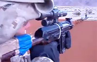 Firing the Dragunov Sniper Rifle