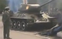 Russian Tank Loading Gone Wrong